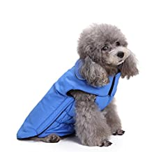 Pet Pure Color Casual Comfortable Autumn Winter Warm waterproof dog Coat Cotton-Padded down jacket Dog Clothes