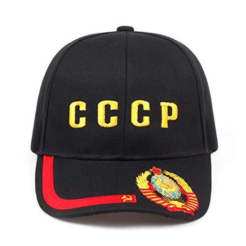 (MKJNBH Women Men CCCP Russian Baseball Caps Soviet Union Unisex Summer Cotton Hat Adjustable Golf)
