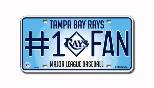 MLB Tampa Bay Rays #1 Fan Metal Tag