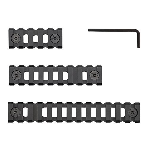 Picatinny/Weaver Rail for M-LOK handguards, Aluminum alloy,Lightweight, Hollow-out 5-slot,9-slot,13-slot …