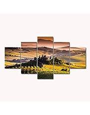 ZYUN Impresiones HD Mural Imágenes 5 Piezas Toscana Italia Paisaje Pinturas De Lona Pared Arte Sala Casa Decoración Carteles,A,40×60×2+40×80x2+40×100×1