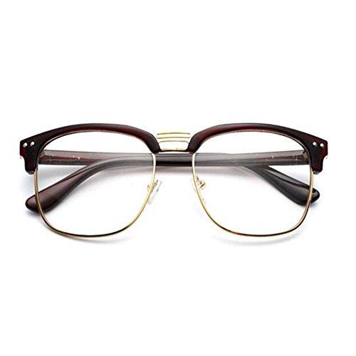 Hombre Semi Previniendo Filtro Marrón Gafas azul Claro Eyewear ojos sin Mujer Lente luz Vintage Computadora los Unisex Moda de montura Xinvision 6wqExA1Tq