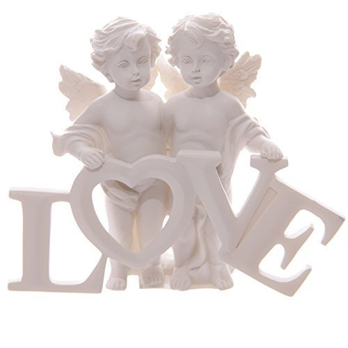 Angel Cherubs Holding Love Letters Figurine Ornament (Ornament Love Angel)