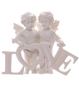 Puckator CHE82 - Coppia d'angioletti Che reggono Le Lettere Love