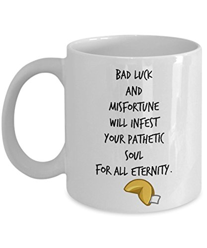 (Unlucky fortune cookies - cookie Coffee Mug for adults - Bad Luck -)