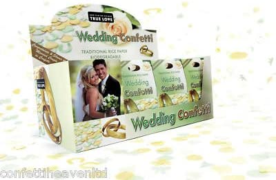 24 Biodegradable Rice Paper Wedding Confetti Accepted All Venues ...