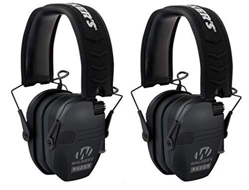 Walkers Razor Slim Electronic Shooting Muffs 2-Pack Bundle (Black) by Walker's Game Ear