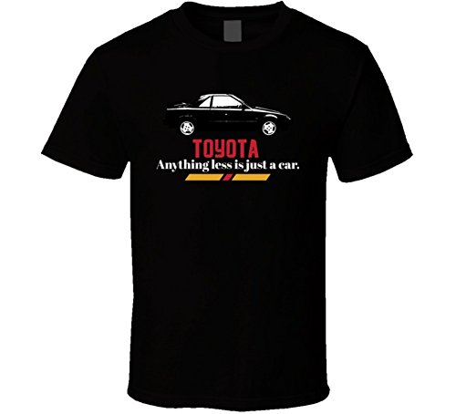 1985 Toyota Mr2 Mk1 B and W Anything Less is Just a Car T Shirt XL Black