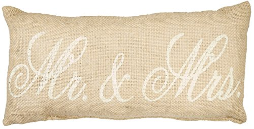 Mr    Mrs  Burlap Pillow