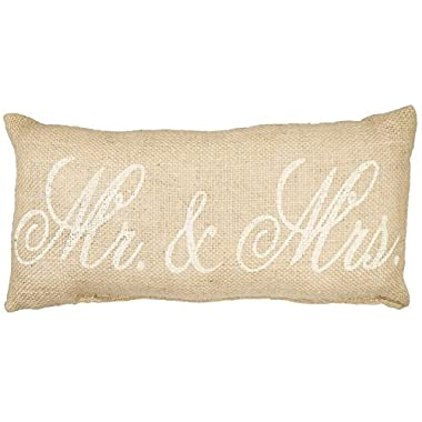 Mr. & Mrs. Burlap Pillow