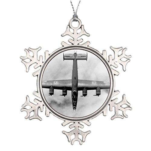 Cheyan B 24 Liberator Heavy Bomber Aircraft Usaaf WWII Family Novelty Snowflake Ornament Christmas Decorative Tree Small ()