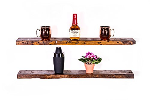 dakoda love rugged distressed floating shelves usa handmade clear coat finish 100 countersunk hidden floating shelf brackets beautiful grain pine wood