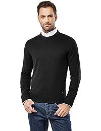 Men's Classic Knit Sweater Crew Neck Slim-Fit