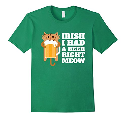 Men's Irish Beer St. Patricks Day Shirt XL Kelly Green