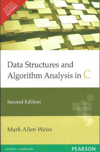 Datastructures and Algorithm Analysis in C, 2/e by Pearson