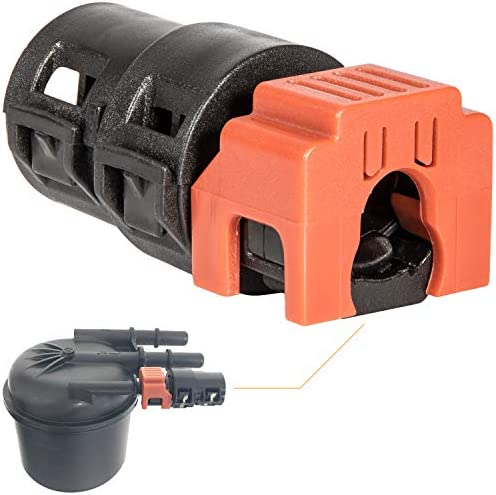 6.7L Powerstroke Fuel Filter Return Line Connector Fitting For Ford 2017-2020 (3846) HC3Z-9A564-A (Black & Orange)