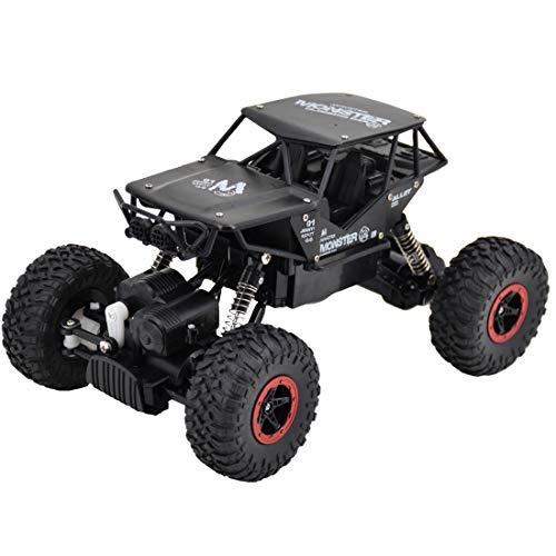 deAO RC Coche Rock Crawler Todoterreno 4WD Control Remoto 2.4GHz Vheículo 4x4 Rastreador de Roca Escala 1:15 (Negro): Amazon.es: Juguetes y juegos