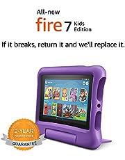 "Fire 7 Kids Edition Tablet, 7"" Display, 16 GB, Purple Kid-Proof Case"