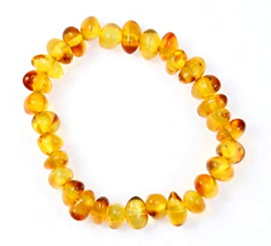 100% Genuine MIX Amber Anklet/Bracelet Knotted from UK Dristriibutor 12-23CM 7KN42zYz