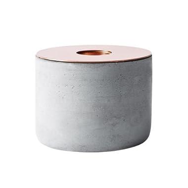 MENU Chunk of Concrete Candleholder, Medium, Copper