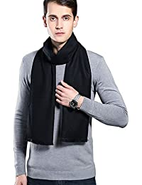 "Super Soft Winter Cashmere & Wool Blend Scarf for Men 70""x12"""
