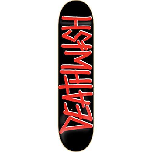 DEATHWISH DEATHSPRAY SKATEBOARD DECK-8.25 BLK/RED w/ MOB GRIP ()