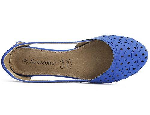 Il Tagliate Ballerine Da Con Basse Blue Greatonu Scarpe Donna Laser qxXSB04