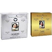 shahnaz husain facial kits Combo of Mini Gold and Diamond Facial Kit, 40g Each (1)