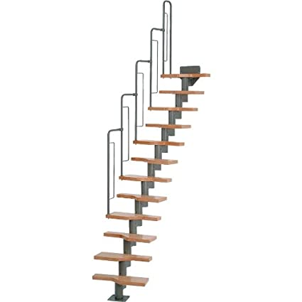 Delicieux Dolle Graz Modular Staircases U2013 Stairway Kit 12 Treads 95u0026quot;H    115u0026quot;H
