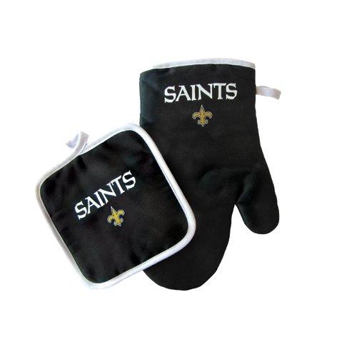 Pro Specialties Group PSG-Z224956 New Orleans Saints NFL Oven Mitt and Pot Holder Set