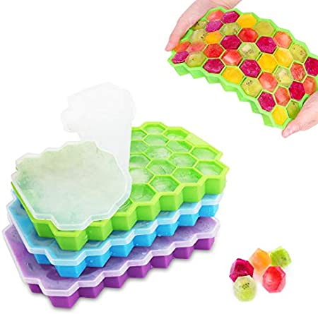Cubiteras para Hielo & grado alimenticio: 3 paquetes de moldes para cubitos de hielo de silicona de