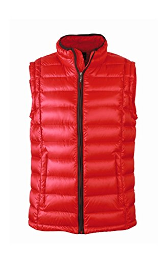 Men's Red Collo Sportivo black Con Down Vest Quilted Rialzato Gilet 4WIOqxnwCw