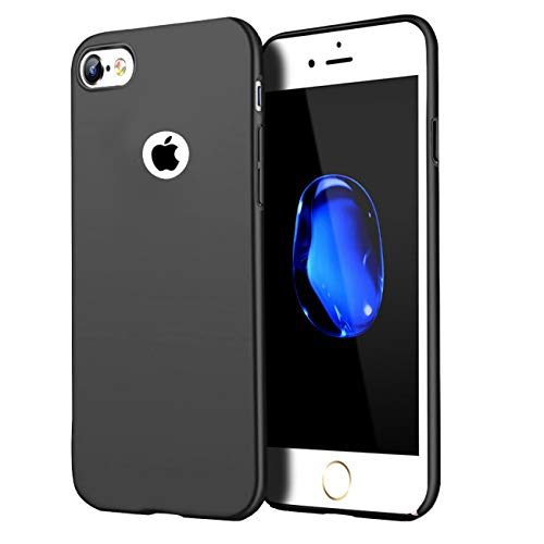 Compatible for iPhone 6 Plus case/iPhone 6S Plus Case, Anti-Fingerprint,Matte Finish Comfortable Silky Smooth Touch Great Grip Feeling Slim Fit Hard Plastic PC Super Thin Mobile Phone Cover-Black