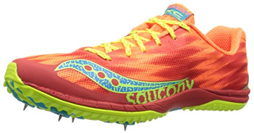 Saucony Women's Kilkenny XC5 Flat W, Vizi Orange/Citron, 9.5 M US
