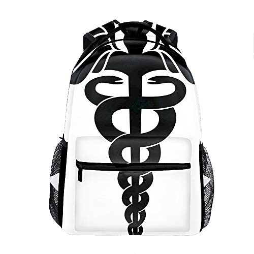 - Caduceus Backpack for Kids School Laptop Backpack School Bags Rucksack Satchel Hiking Bag