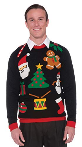 Forum Novelties Adult Everything Ugly Christmas Sweater, Multi, Large