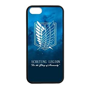 Attack On Titan Fashion Comstom Plastic case cover For Ipod Touch 5 Cover