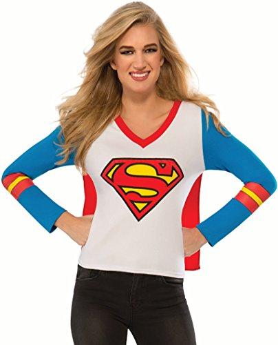 Rubie's Costume Co Women's DC Superheroes Supergirl Sporty Tee, Multi, Large (Sporty Girl Halloween Costume)