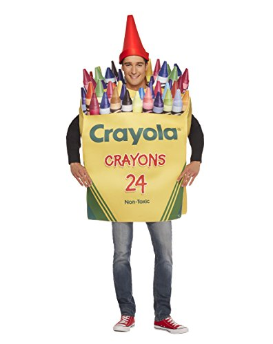 Spirit Halloween Crayon Box Costume - Crayola,Yellow,One Size - Crayola Crayon Costume Hat