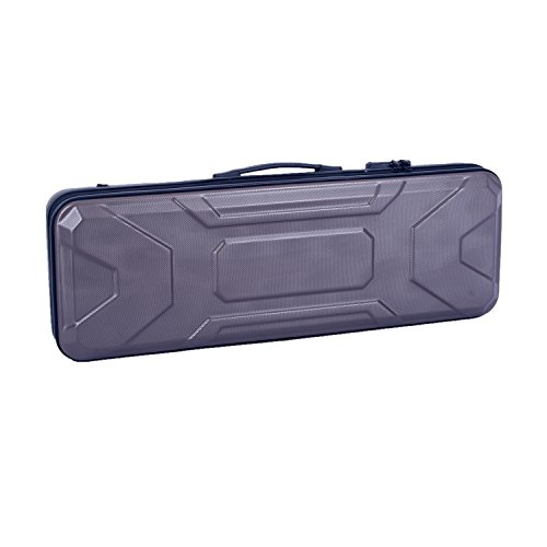 Crossrock CRA400VFGR 4/4 Full Size Violin Case, Zippered ABS Molded Backpack Style in Grey