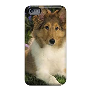 Iphonecase88 Apple Iphone 6s Perfect Hard Phone Covers Provide Private Custom Attractive Sheltie Puppy Series [Tfg2086dWFB]