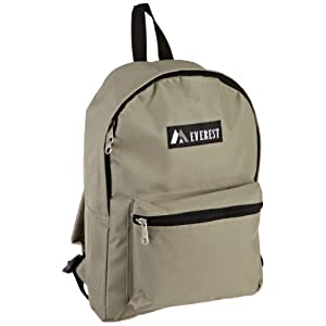Everest Luggage Basic Backpack, Khaki, Medium