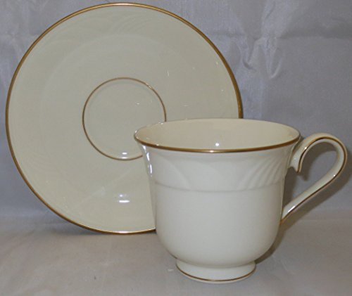 Lenox Golden Sand Dune Footed Cup & Saucer - Sand Lenox
