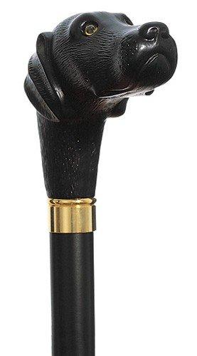 KOBE STICKS 神戸ステッキ 木製 イタリア製 愛らしい黒ラブラドールステッキ B07B4BYLTR 85cm(身長164~165cmの方)  85cm(身長164~165cmの方)