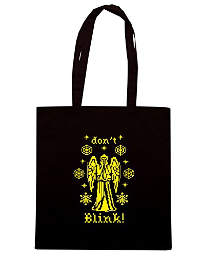 T-Shirtshock - Bolsa para la compra FUN0280 11 27 2012 Weeping Holiday Angel T SHIRT det Negro