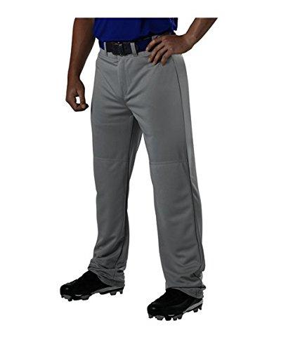 Alleson Adult Adjustable Inseam Baseball Pants - Charcoal - 2X-Large