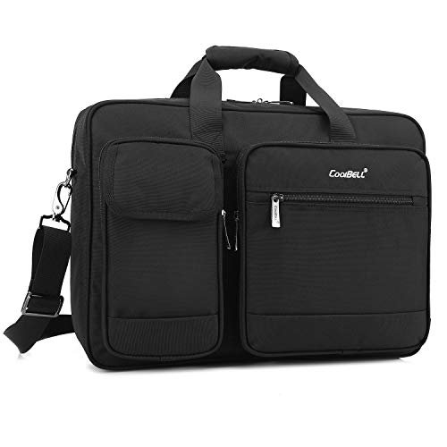 - CoolBELL 17.3 Inch Laptop Briefcase Protective Messenger Bag Nylon Shoulder Bag Multi-Functional Hand Bag for Laptop/Ultrabook/Tablet/MacBook/Dell/HP/Men/Women/Business (Black)