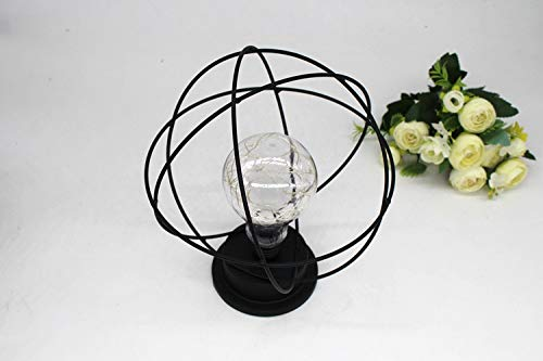 Xindda Table Lamp,Led Metal Accent Light Battery-Operated Lamp Globe Decoration Light US Stock,LED Bedroom Living Room Study Bedside Lamp-Ship from -