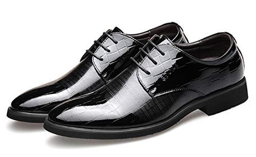 Schuhe Shiney Lace Black Freizeitschuhe Hochzeit 2018 Schuhe Kleid Business up Lackleder Herren rYO7Tr