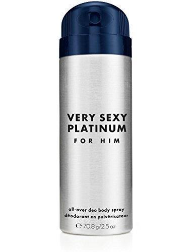 Victoria's Secret Very Sexy Platinum for Him All-over Deo Body Spray Travel Size 2.5 Oz.